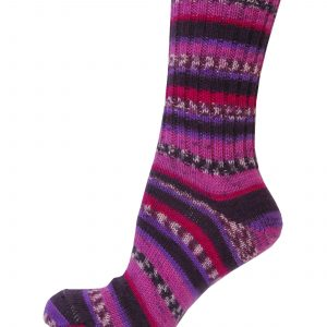 Ladies Fair Isle Socks - Candy Floss