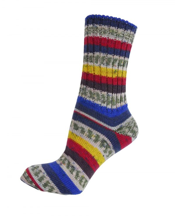 Ladies Fair Isle Socks - Lagoon - Grange Craft Gift Shop